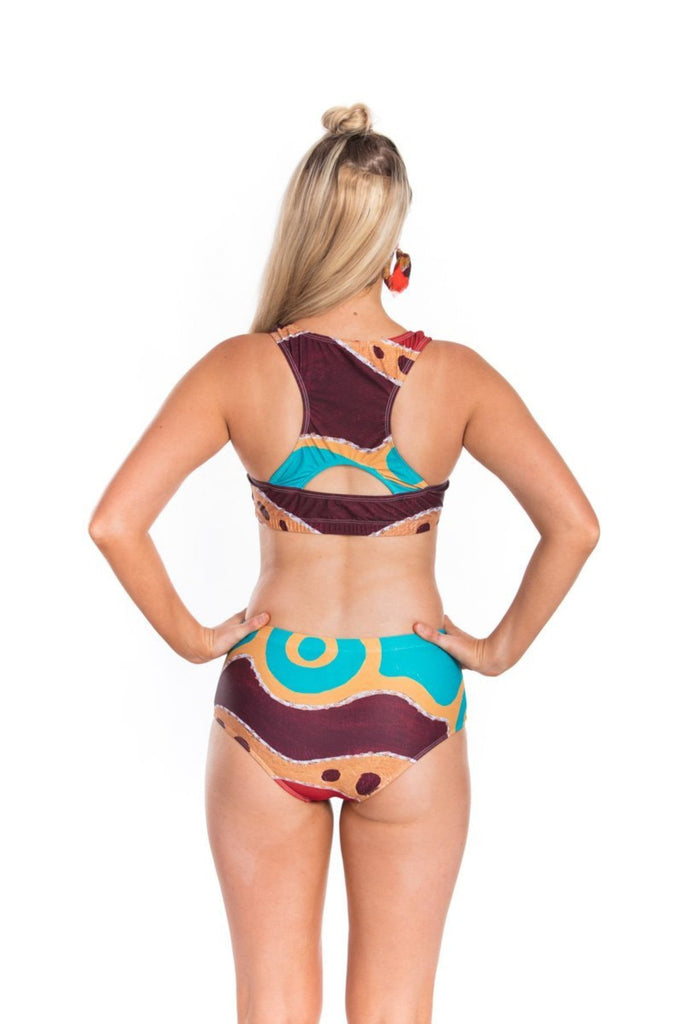 Maddy Crop Top Swimwear The Fashion Advocate ethical Australian fashion designer boutique Melbourne sustainable clothes