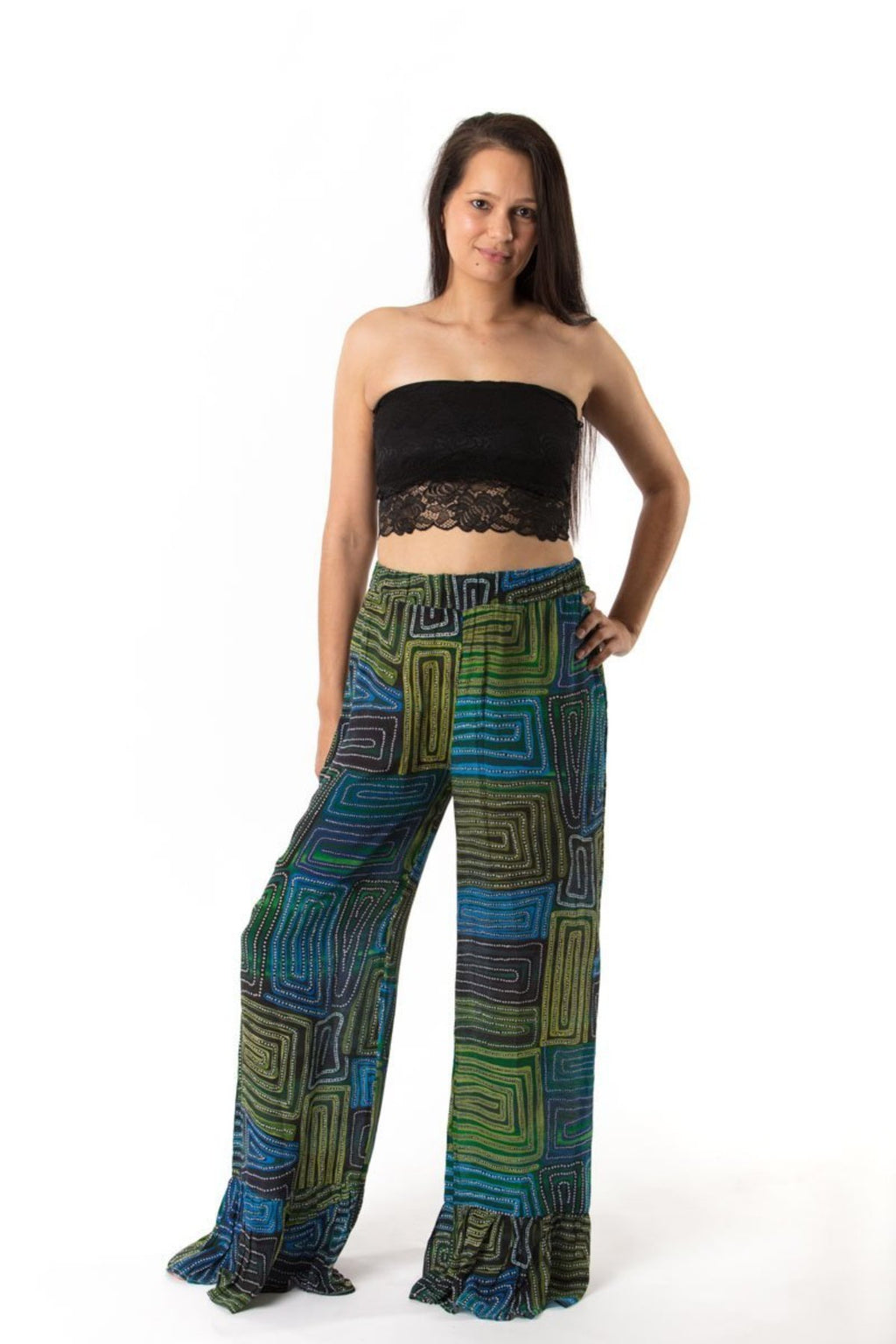 Michelle Ruffle Pants Pants Ethical Sustainable Vegan Organic Australian fashion womens clothes