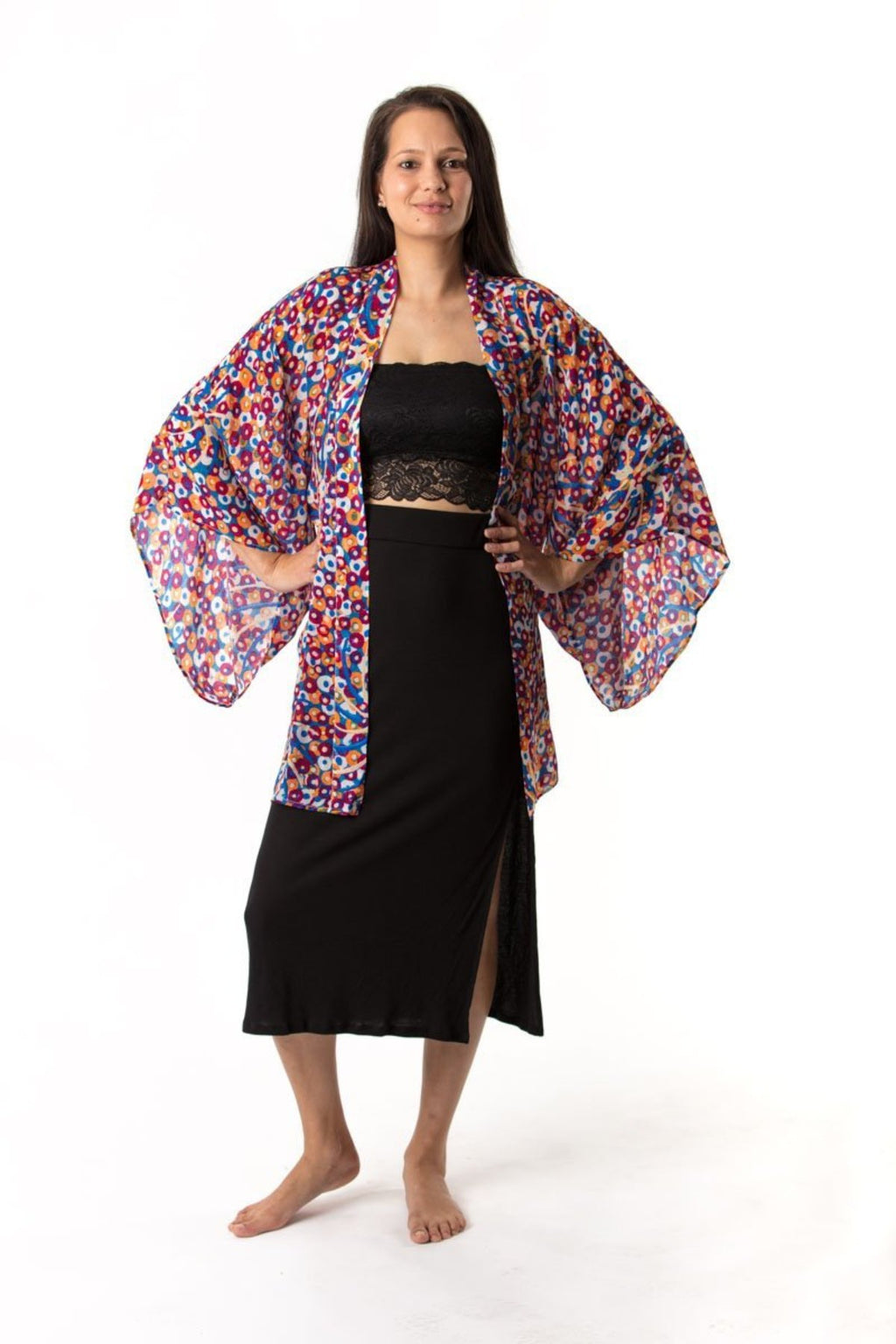 Kerry Kimono Short Jackets Ethical Sustainable Vegan Organic Australian fashion womens clothes
