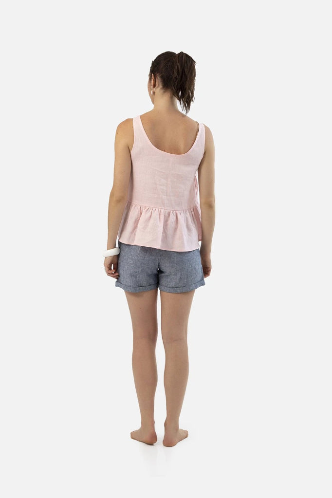 Pink Raspberry Drop Singlet Shirts + tops Ethical Sustainable Vegan Organic Australian fashion womens clothes