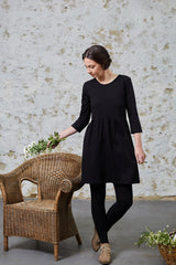 Black Pansy Dress Dresses Ethical Sustainable Vegan Organic Australian fashion womens clothes