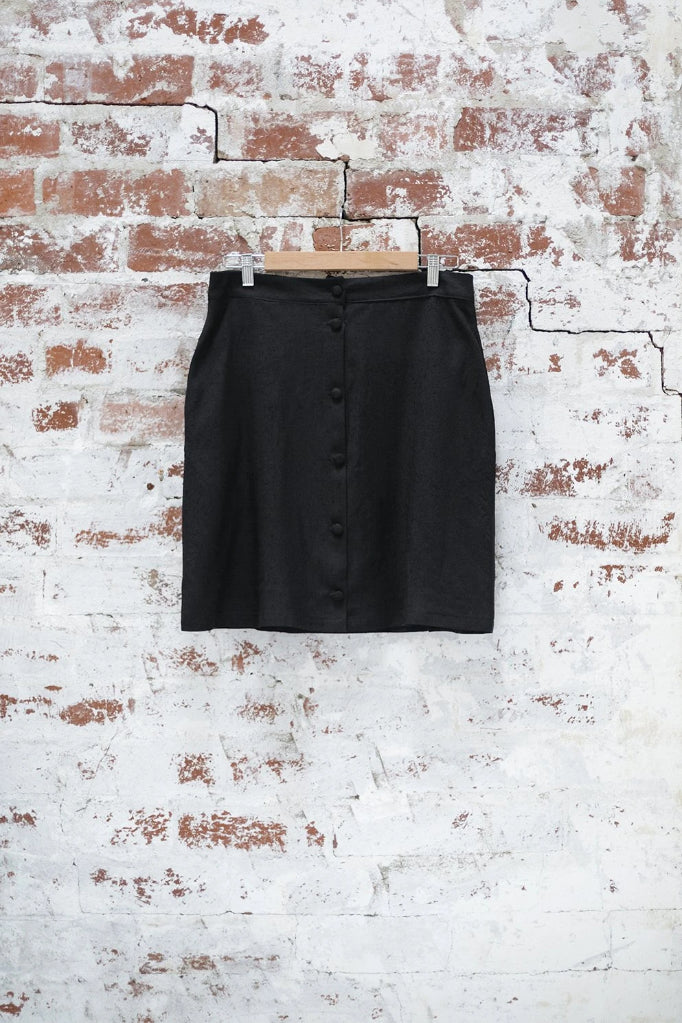 Black Snapdragon Skirt Skirts Ethical Sustainable Vegan Organic Australian fashion womens clothes