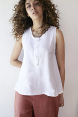 Tulip Singlet Top White