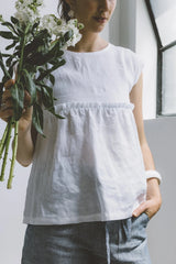 White Lemon Drop Top Shirts + tops Ethical Sustainable Vegan Organic Australian fashion womens clothes