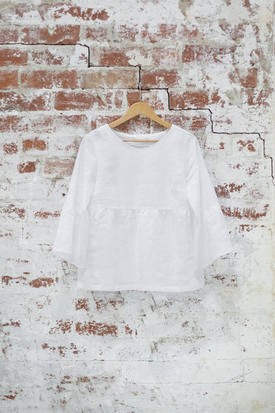 White Sweet Pea Top