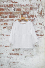White Sweet Pea Top Shirts + tops Ethical Sustainable Vegan Organic Australian fashion womens clothes