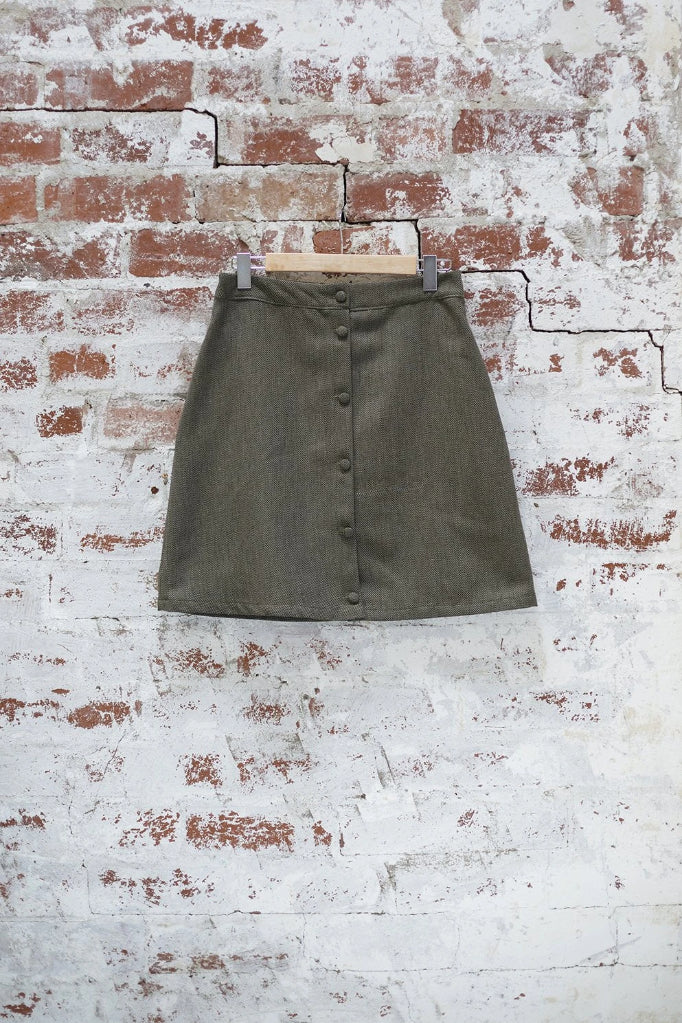 Green Snapdragon Skirt Skirts The Fashion Advocate ethical Australian fashion designer boutique Melbourne sustainable clothes
