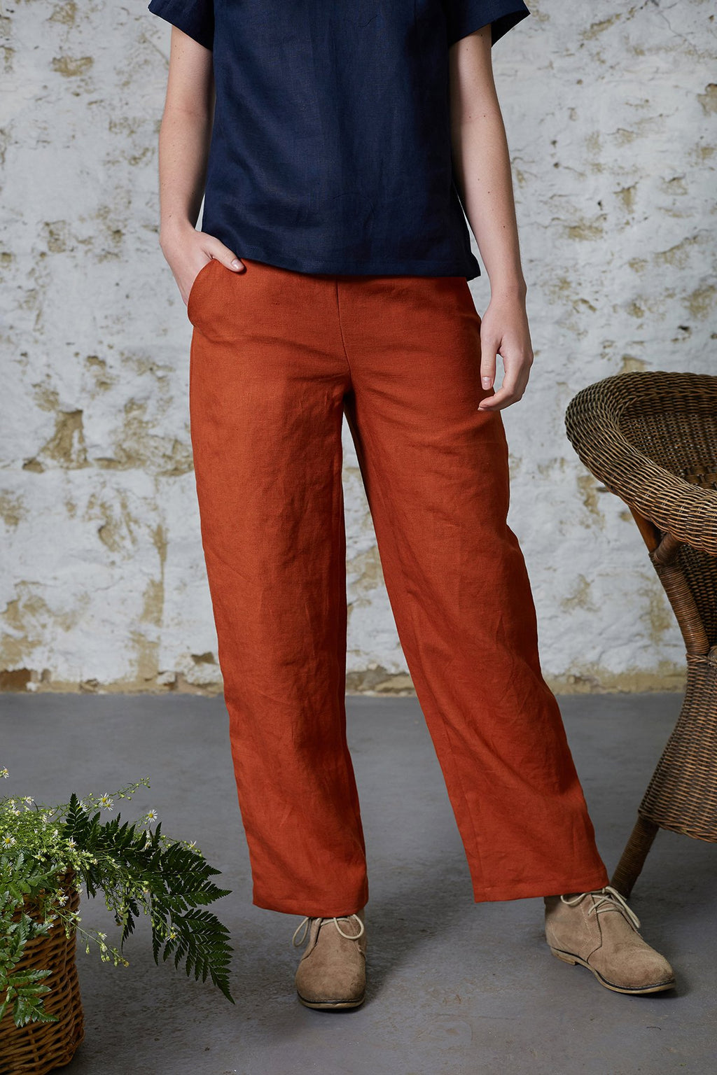 Paprika Billy Button Pants Pants Ethical Sustainable Vegan Organic Australian fashion womens clothes