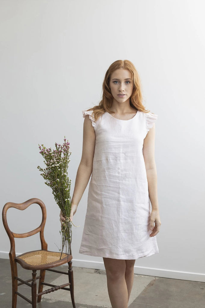Petunia Frill Dress Shell Dresses Ethical Sustainable Vegan Organic Australian fashion womens clothes