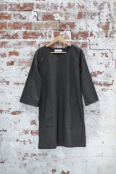 Black Lilly of the Valley Dress Dresses The Fashion Advocate ethical Australian fashion designer boutique Melbourne sustainable clothes