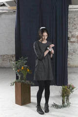 Black Lilly of the Valley Dress Dresses Ethical Sustainable Vegan Organic Australian fashion womens clothes