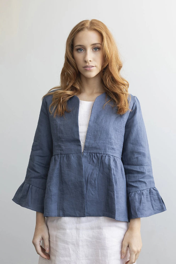 Dahlia Jacket V2 Denim Blue Jackets Ethical Sustainable Vegan Organic Australian fashion womens clothes