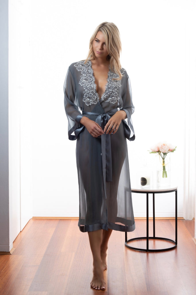 Dusk Aphelion Long Robe Sleepwear Ethical Sustainable Vegan Organic Australian fashion womens clothes