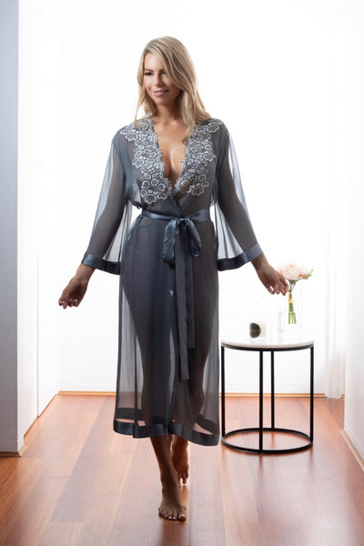 Dusk Aphelion Long Robe Sleepwear The Fashion Advocate ethical Australian fashion designer boutique Melbourne sustainable clothes