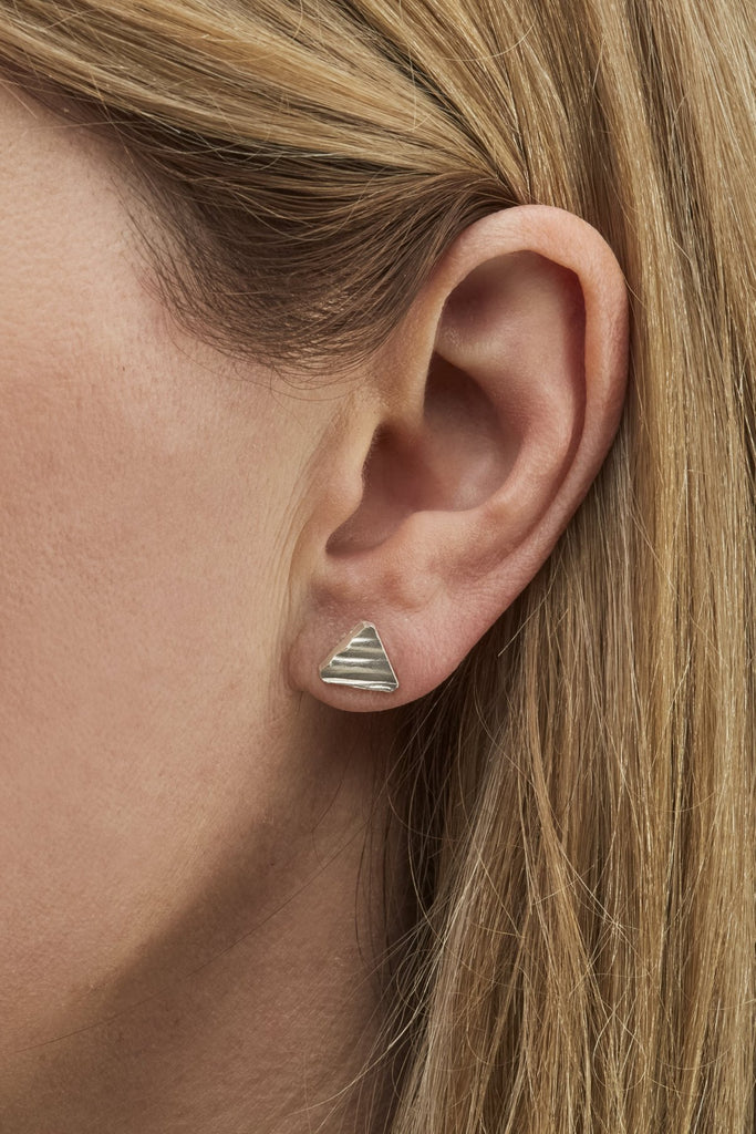 Flora Imprint Triangle Studs Jewellery The Fashion Advocate ethical Australian fashion designer boutique Melbourne sustainable clothes