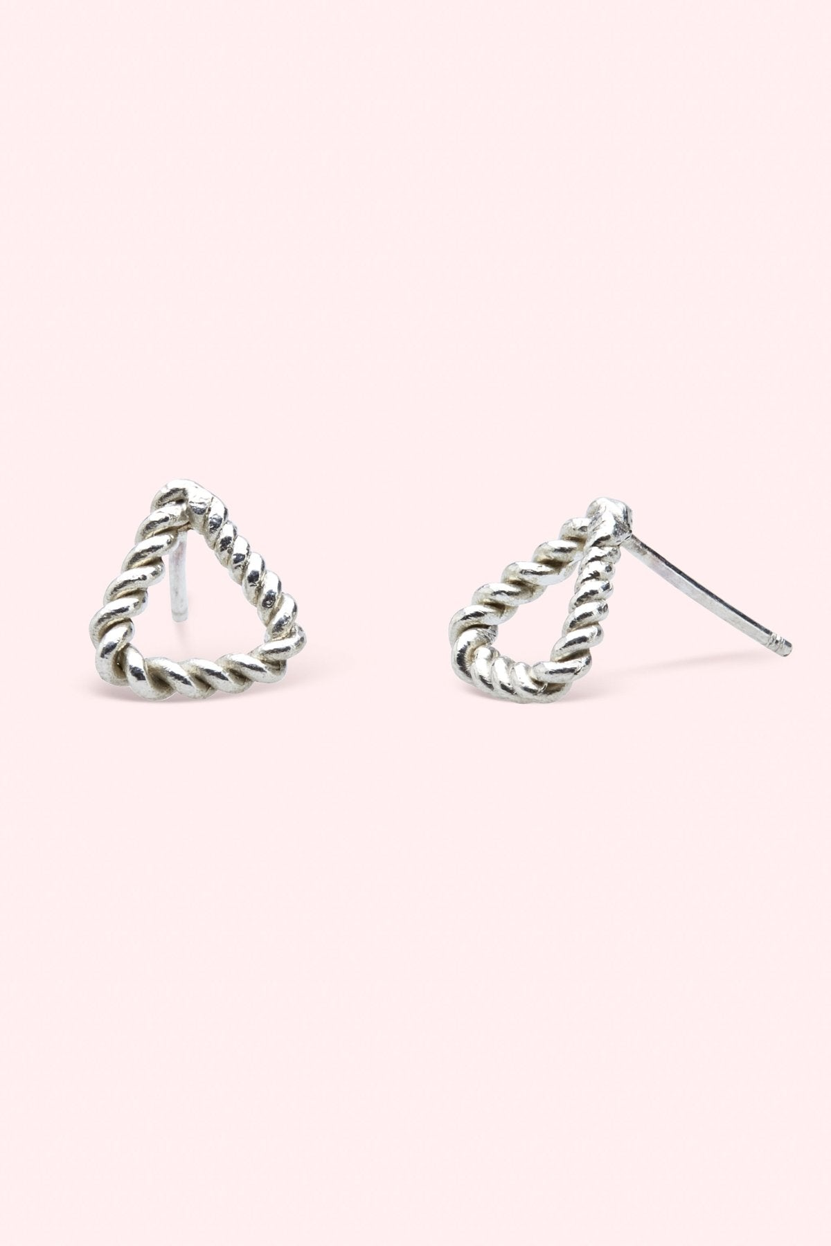 Flora Triangle Twist Studs Jewellery The Fashion Advocate ethical Australian fashion designer boutique Melbourne sustainable clothes