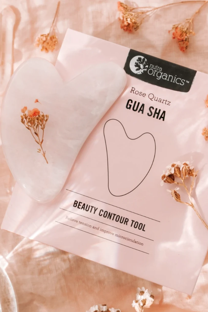 Rose Quartz Gua Sha Beauty Contour Tool