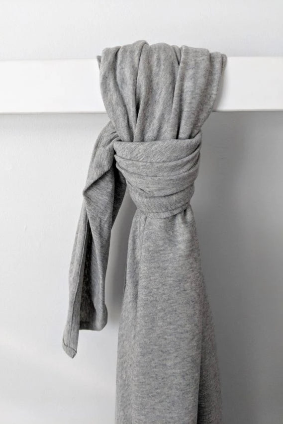 Organic Cotton Grey Marle Baby Wrap Linen + bedding Ethical Sustainable Vegan Organic Australian fashion womens clothes