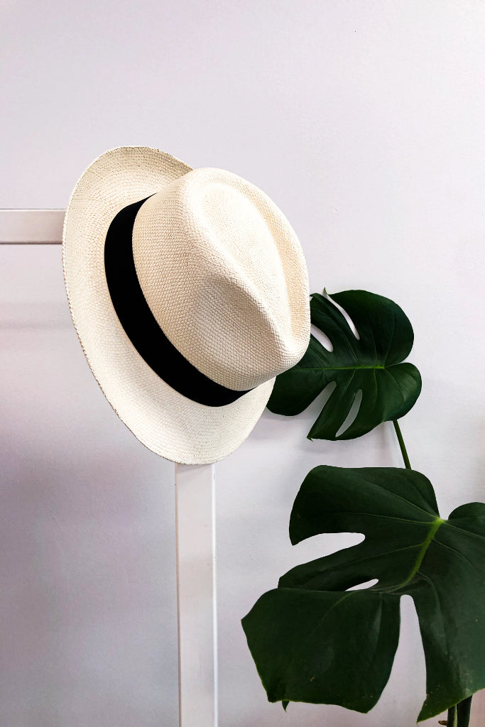 Ivory Hass Panama Hat Hats The Fashion Advocate ethical Australian fashion designer boutique Melbourne sustainable clothes