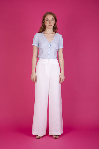 Sasha Pant White Pants The Fashion Advocate ethical Australian fashion designer boutique Melbourne sustainable clothes