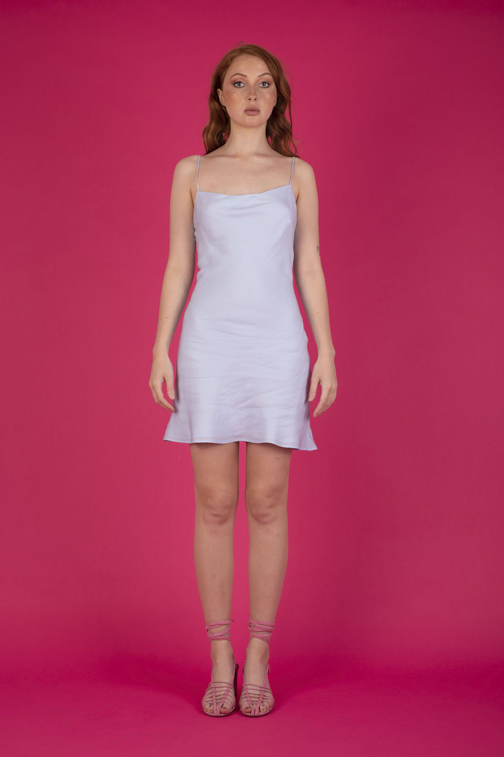 Gia Mini Dress Icy Blue Dresses The Fashion Advocate ethical Australian fashion designer boutique Melbourne sustainable clothes