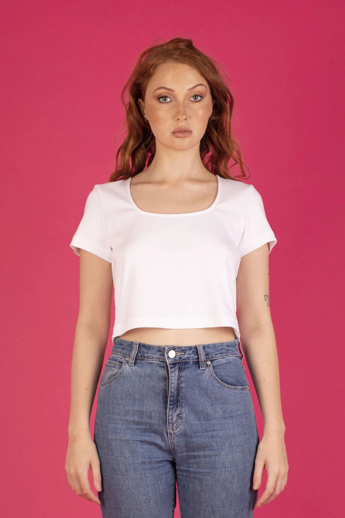 Riley Tee White Shirts + tops Ethical Sustainable Vegan Organic Australian fashion womens clothes