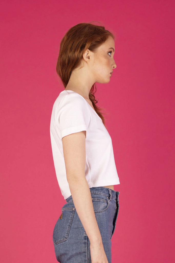 Riley Tee White Shirts + tops The Fashion Advocate ethical Australian fashion designer boutique Melbourne sustainable clothes