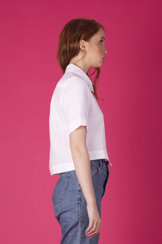 White Becca Shirt Shirts + tops Ethical Sustainable Vegan Organic Australian fashion womens clothes