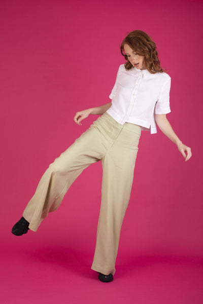 Sasha Pant Lettuce Green Pants Ethical Sustainable Vegan Organic Australian fashion womens clothes