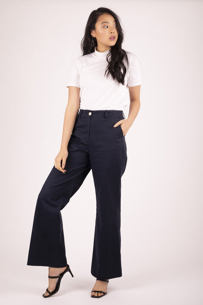 Midnight Brooklyn Flare Pant Pants Ethical Sustainable Vegan Organic Australian fashion womens clothes