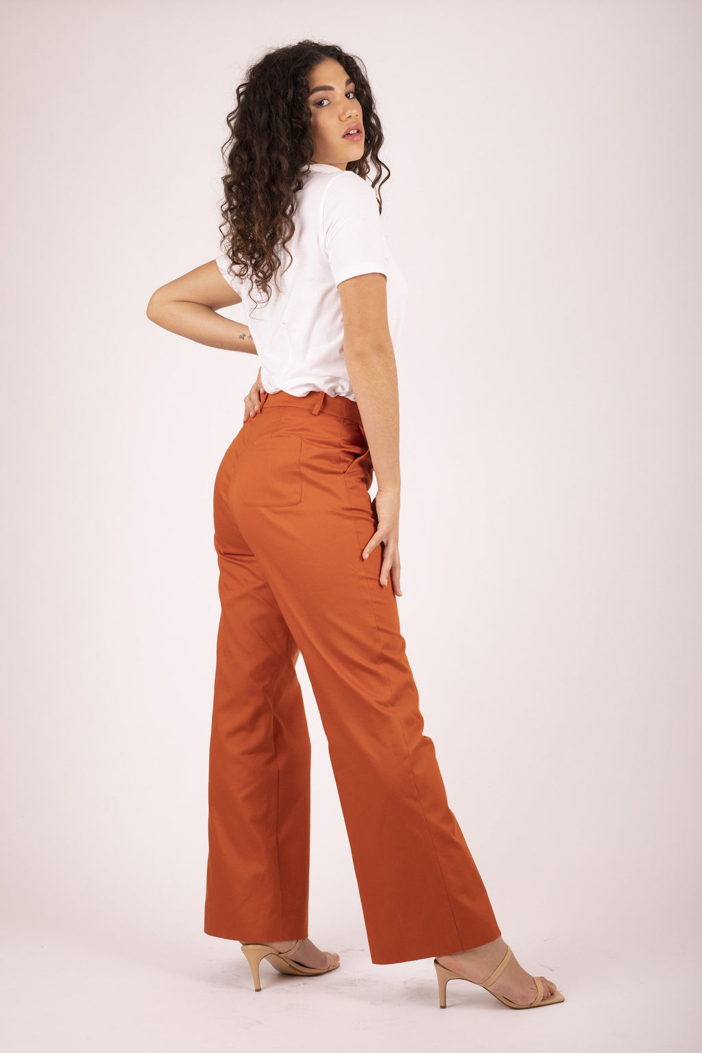 Brooklyn Flare Pant - Sweet Potato Pant The Fashion Advocate ethical Australian fashion designer boutique Melbourne sustainable clothes