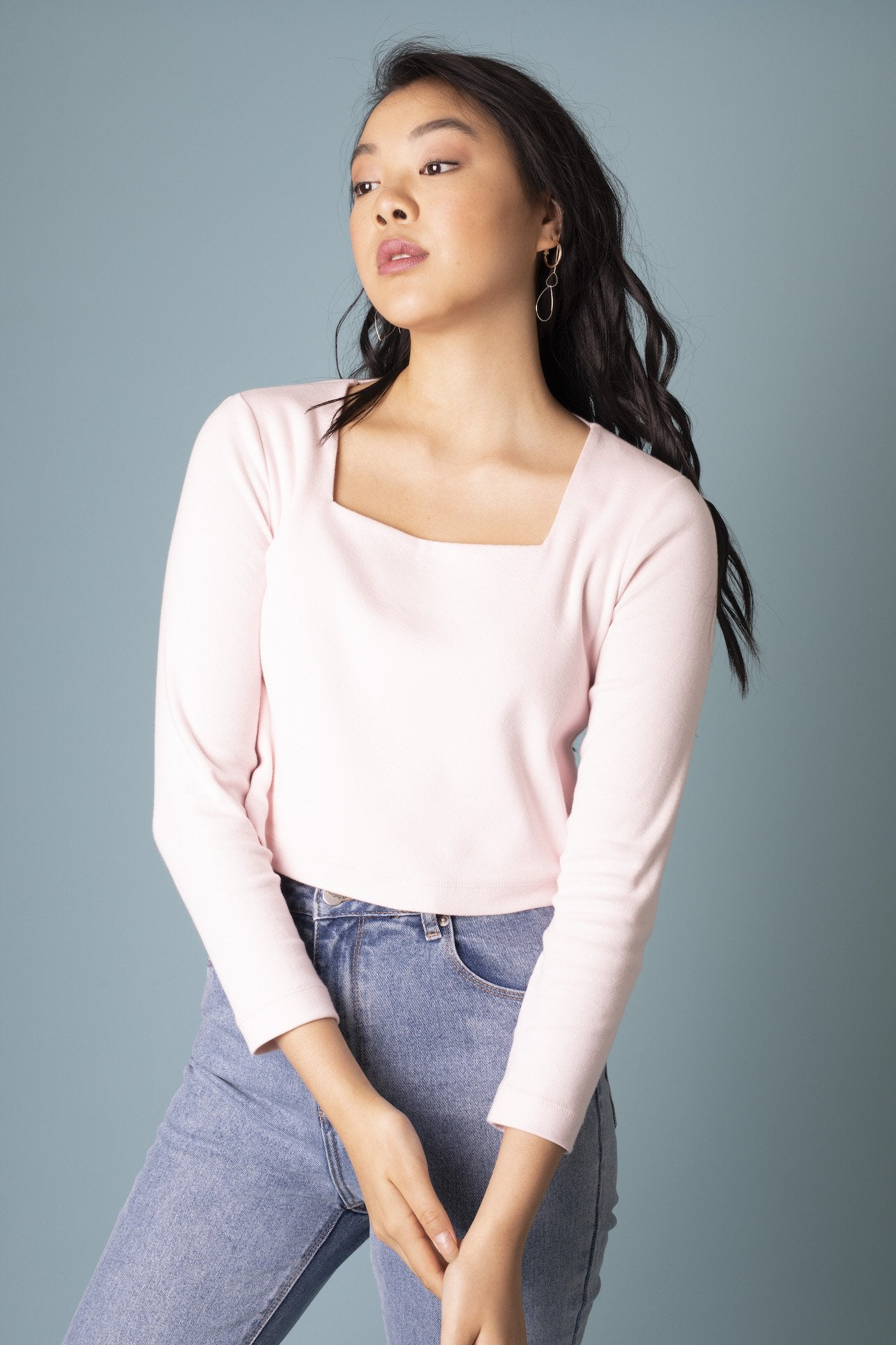 Powder Pink Sophia Top Shirts + tops The Fashion Advocate ethical Australian fashion designer boutique Melbourne sustainable clothes