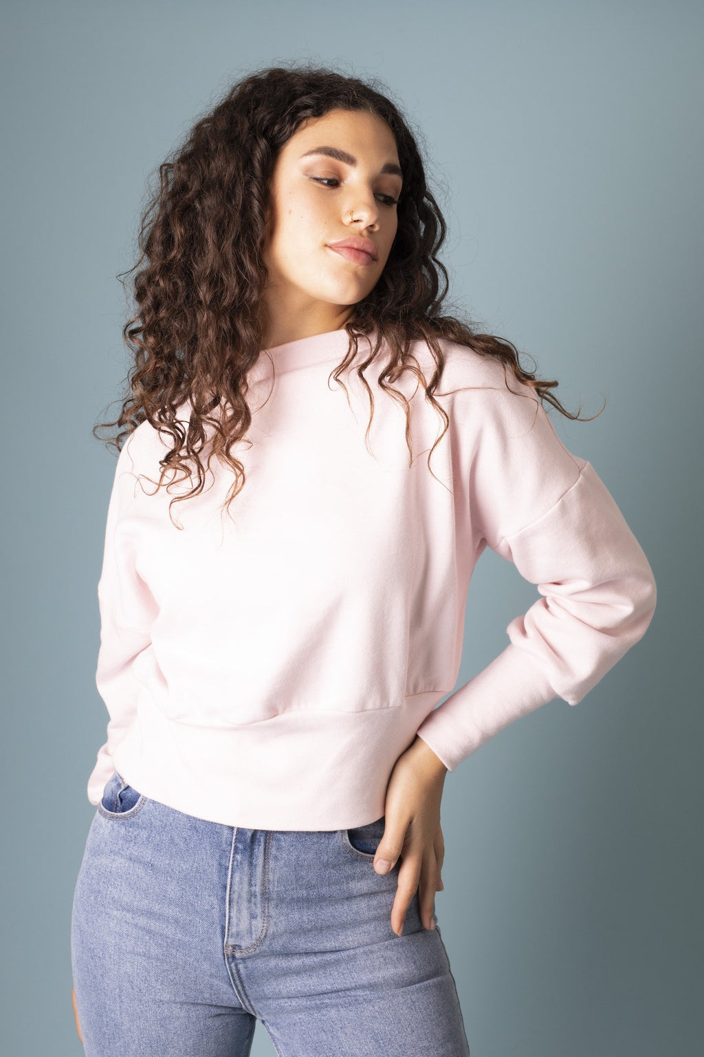 Powder Pink Alana Sweater Jumpers The Fashion Advocate ethical Australian fashion designer boutique Melbourne sustainable clothes