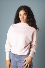 Powder Pink Alana Sweater Jumpers Ethical Sustainable Vegan Organic Australian fashion womens clothes