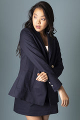 Midnight Kaia Blazer Jackets The Fashion Advocate ethical Australian fashion designer boutique Melbourne sustainable clothes