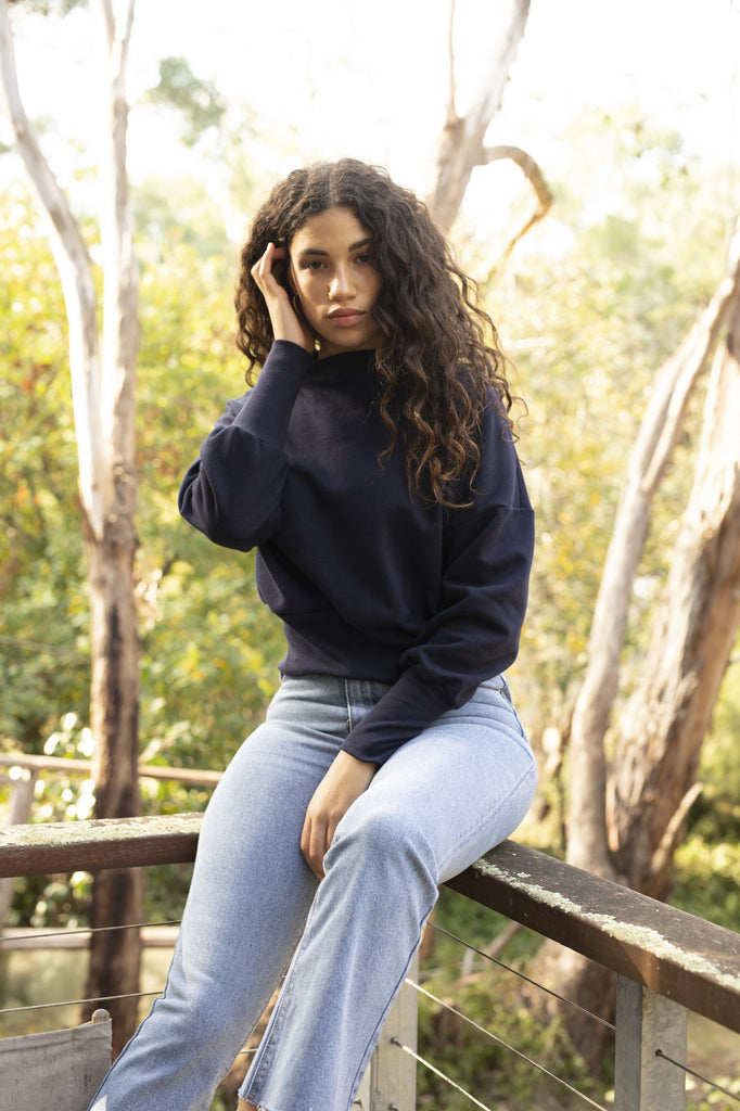 Midnight Alana Sweater Jumpers Ethical Sustainable Vegan Organic Australian fashion womens clothes