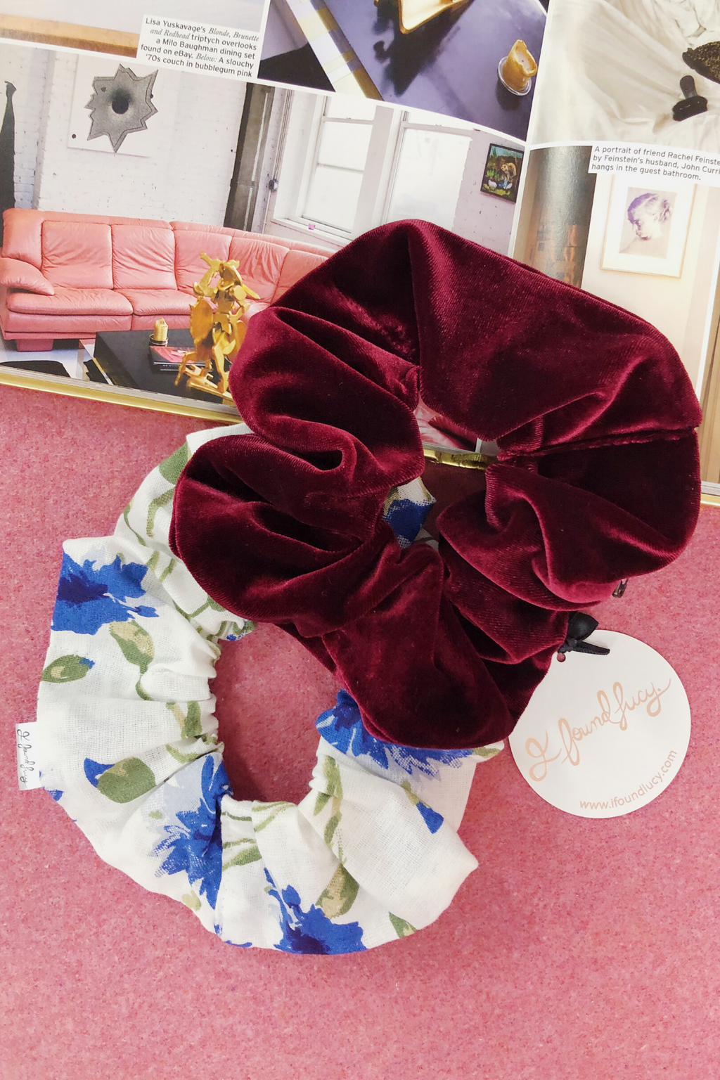 Prairie Scrunchie Hair accessories The Fashion Advocate ethical Australian fashion designer boutique Melbourne sustainable clothes