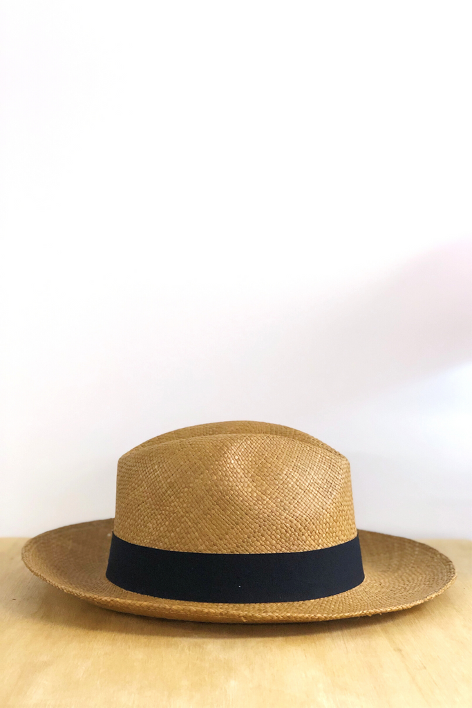 Tobacco Fedora Panama Hat Hats Ethical Sustainable Vegan Organic Australian fashion womens clothes
