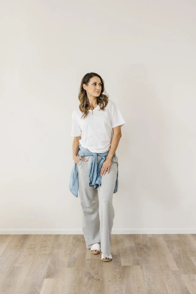 Organic Cotton Grey Marle Boardwalk Pant Sleepwear Ethical Sustainable Vegan Organic Australian fashion womens clothes