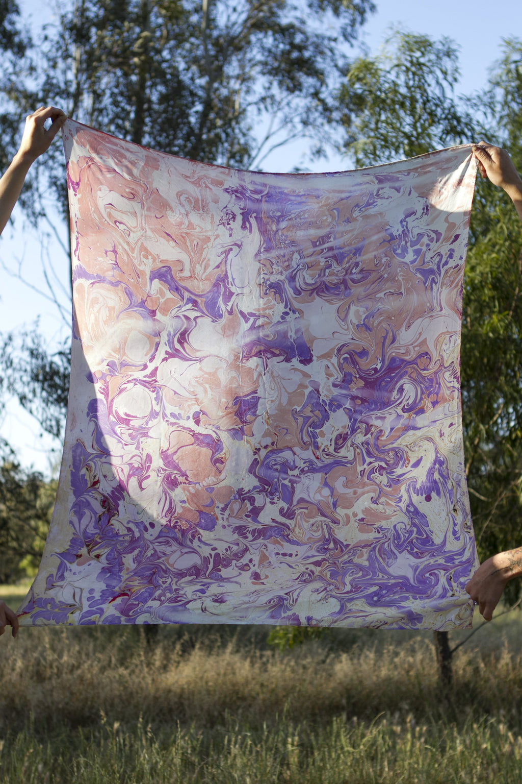 Lilac Haze Silk Scarf Scarves Ethical Sustainable Vegan Organic Australian fashion womens clothes