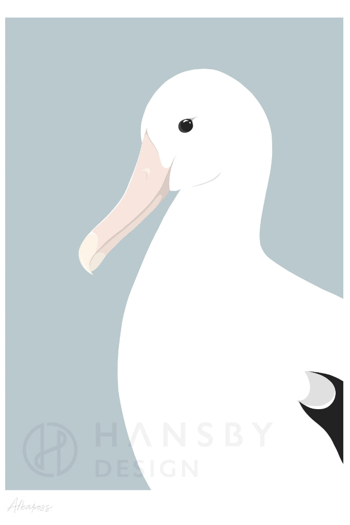 Albatross Print Art + prints Ethical Sustainable Vegan Organic Australian fashion womens clothes