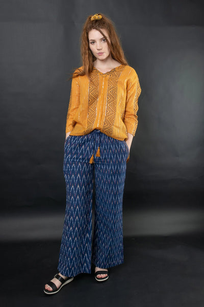 Kia Ikat Pants Pants The Fashion Advocate ethical Australian fashion designer boutique Melbourne sustainable clothes