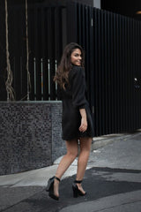 Black Stella Dress Dresses The Fashion Advocate ethical Australian fashion designer boutique Melbourne sustainable clothes