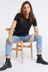 Womens Classico Black Tee Shirts + tops Ethical Sustainable Vegan Organic Australian fashion womens clothes
