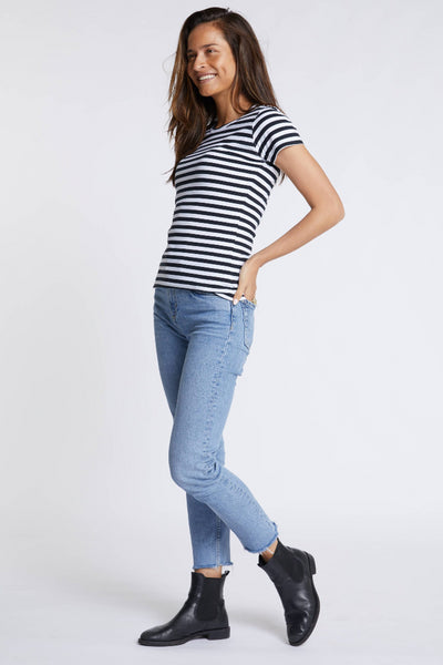 Womens Classico Striped Tee Shirts + tops Ethical Sustainable Vegan Organic Australian fashion womens clothes