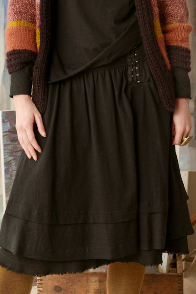 Clover Skirt in Hemp Organic Cotton Knit Skirts The Fashion Advocate ethical Australian fashion designer boutique Melbourne sustainable clothes