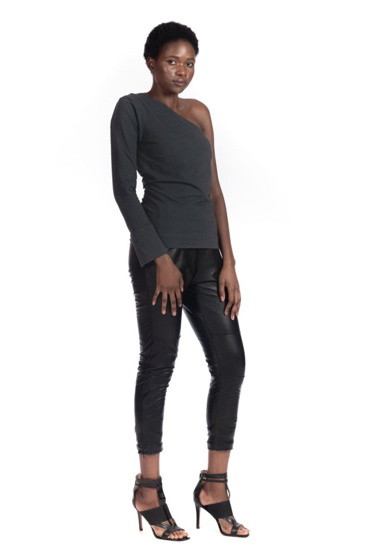 Charcoal Vivienne Top Shirts + tops Ethical Sustainable Vegan Organic Australian fashion womens clothes