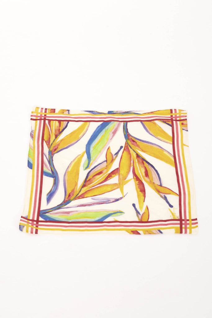 Bird of Paradise Print Handkerchief Scarf SCARF The Fashion Advocate ethical Australian fashion designer boutique Melbourne sustainable clothes