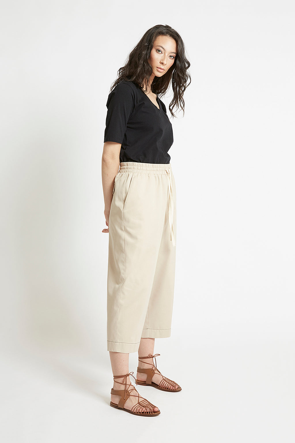 Sand Cotton Tapered Pant
