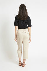 Sand Cotton Tapered Pant Pants Ethical Sustainable Vegan Organic Australian fashion womens clothes